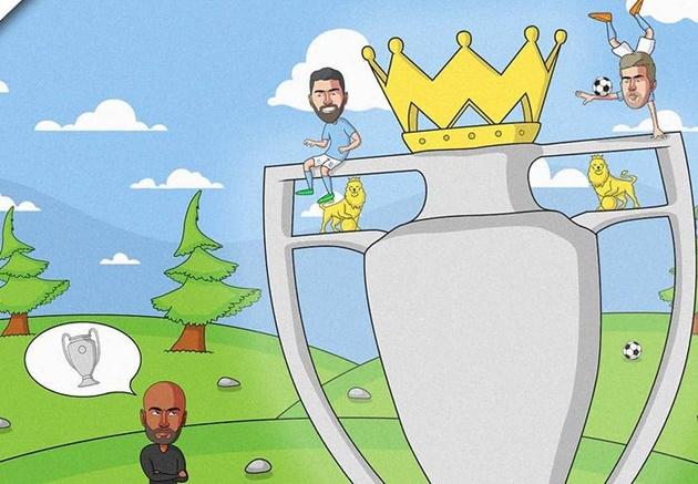 Cười té khói với loạt ảnh chế Man City vô địch Premier League