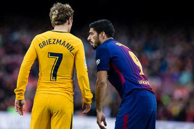 Barca gặp Atletico: Tâm điểm đổ dồn vào Griezmann và Suarez