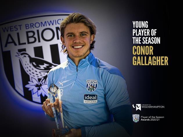 Sao Chelsea giành giải thưởng Cầu thủ trẻ xuất sắc nhất West Brom