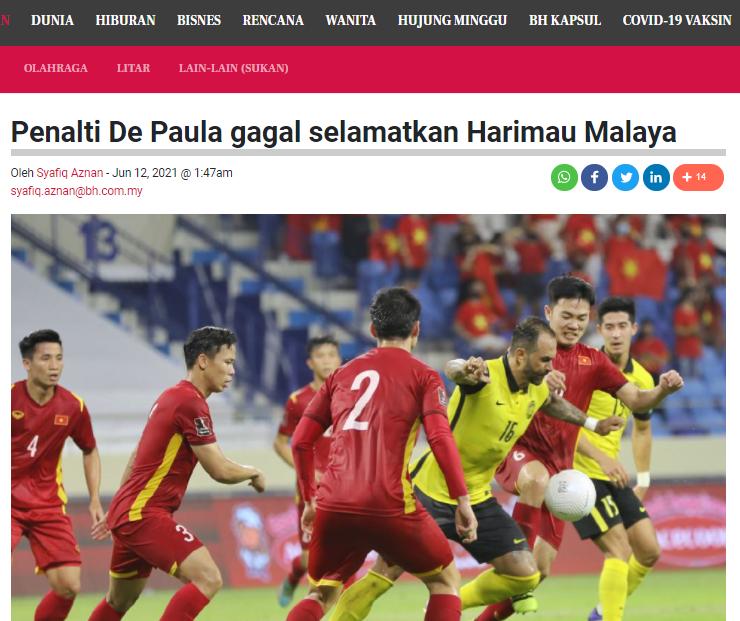 """Truyền thông Malay: """"Cậu ta tiếp tục mang vận may cho ĐT Việt Nam"""""""