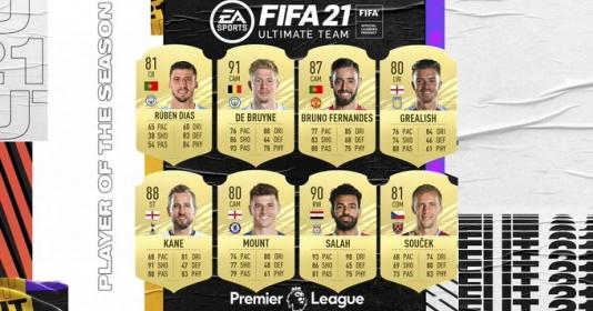 8 sao bự đua nhau danh hiệu xuất sắc nhất Premier League 2020/21