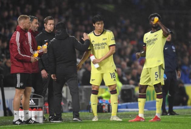 Sự vắng mặt quan trọng khiến Arteta lúng túng trước Brighton