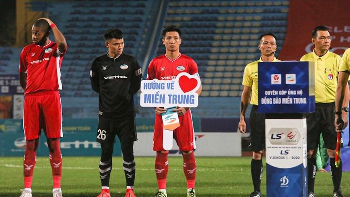 Cầu thủ Viettel, Bình Dương quyên góp hướng về đồng bào miền Trung